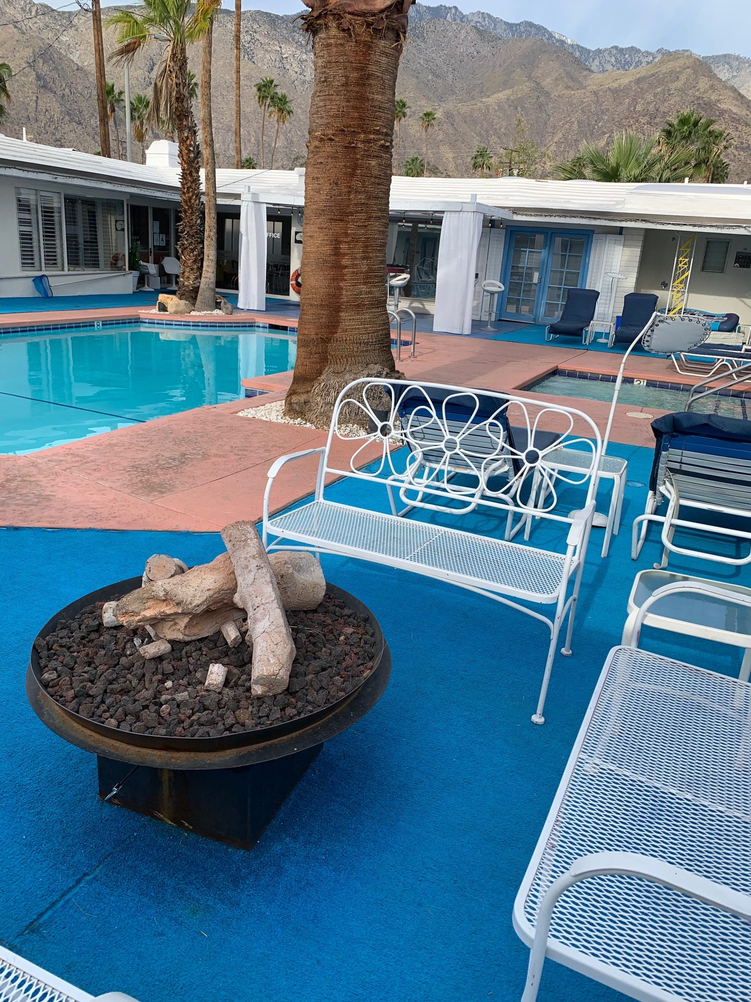 Poolside at the Palm Springs Rendezvous Hotel